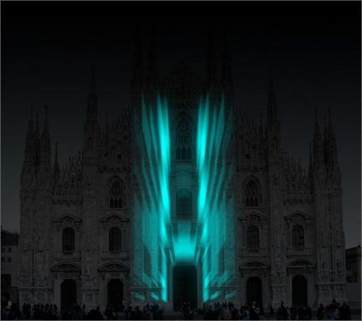 3D images on Milan's Duomo