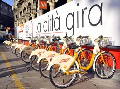 """Milan's bike-sharing service """"BikeMI"""" has added seven new stations for a total of 222 new stalls."""