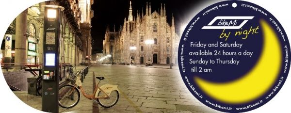 Milan's BikeMi continues night-time service