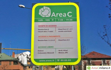 Milan's Area C back on 17 Sept