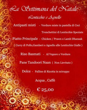 Tara Indian Restaurant - Special Christmas Week Menu