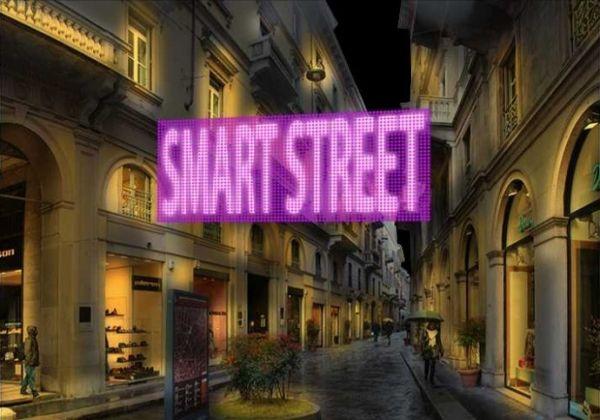 """Milan's """"smart street"""" lit up"""