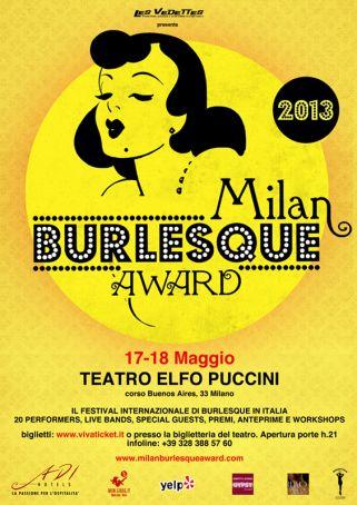 Milan ready for Burlesque Award 2013