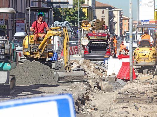 Milan road works published