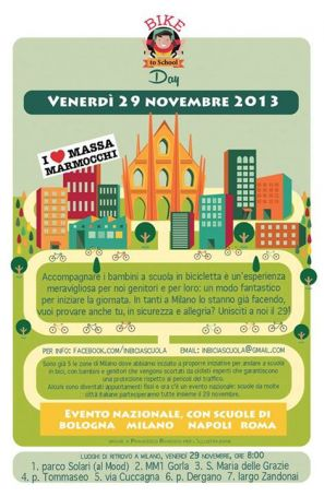Bike to school day in Milan