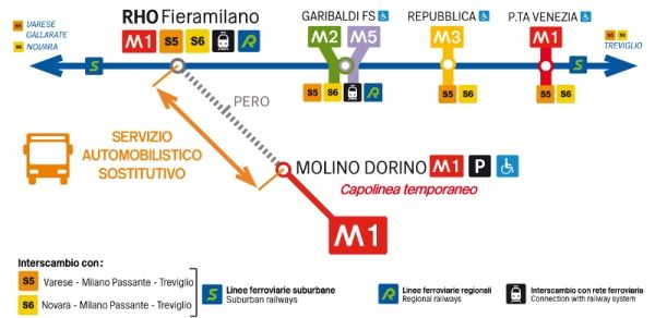 Metro M1 stations to close