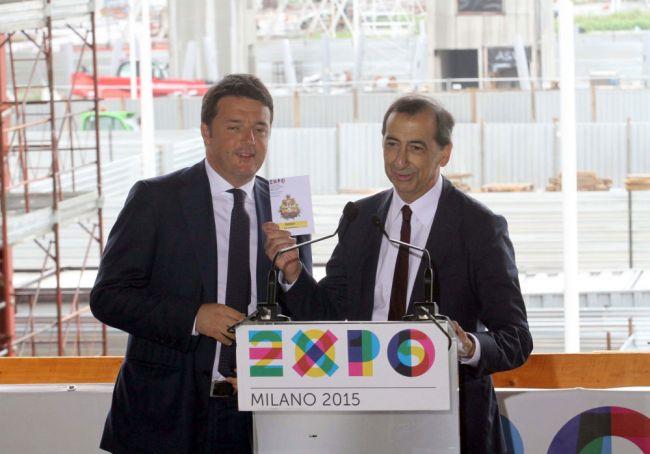 PM Renzi visits Milan Expo site