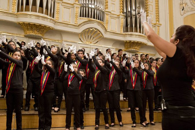 Venezuela's National Child Symphony performs at La Scala