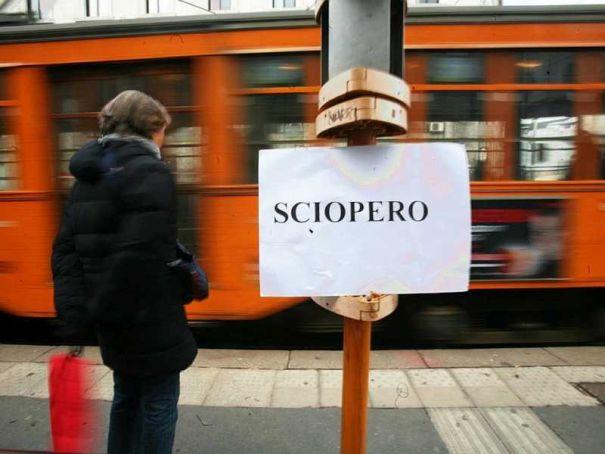 Milan public transport strike 5 April morning