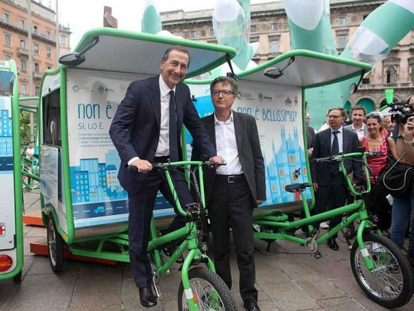 Milan deploys trikes for trash