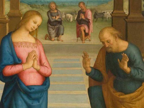 Perugino's 'Adoration' on view in Milan