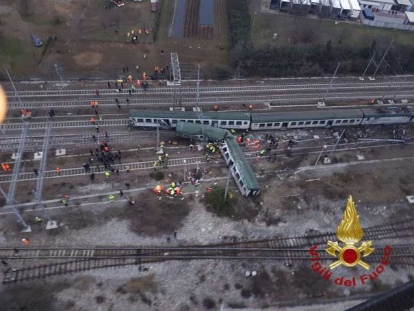 Emergency services continue on Milan commuter line