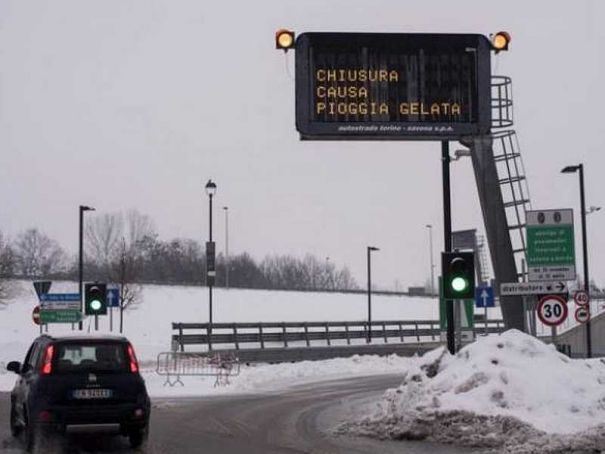 Lombardy under snow and ice