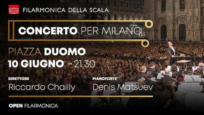"""Concert for Milan"" in Piazza del Duomo"