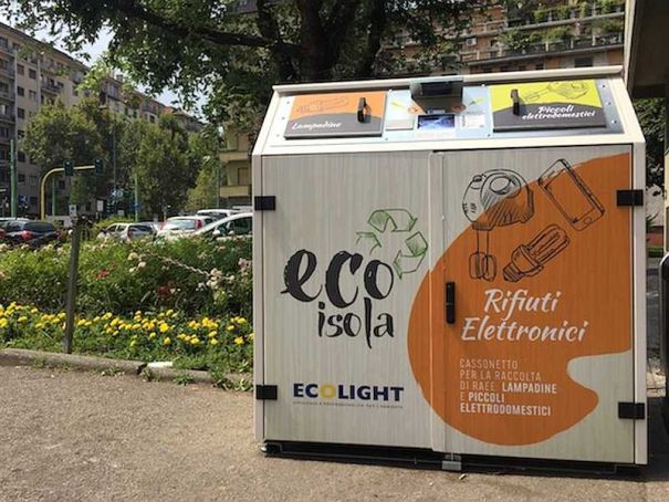 "Milan launches ""smart"" bins for electronic waste."