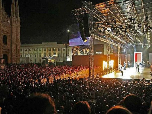 Free New Year's Eve party in Milan's Piazza Duomo