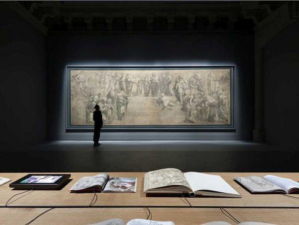 Raphael cartoon restored, on view in Milan