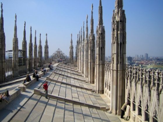 On the roof of Milan Cathedral - image 1