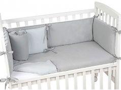 Cute white baby crib