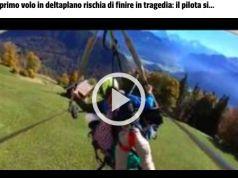 Hand glider pilot forgets to fasten passenger