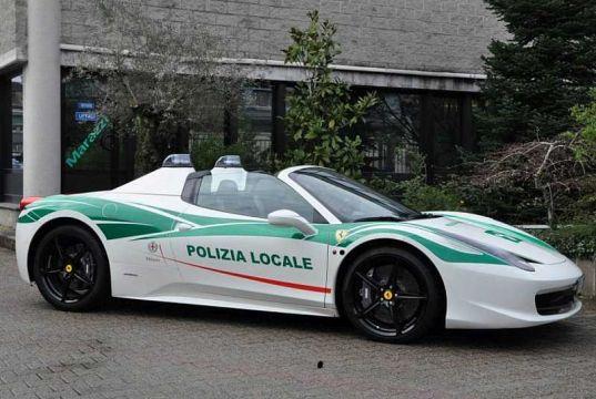 Milan traffic cops win a Ferrari