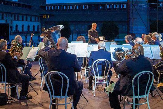 Music under the stars in Milan's Castello