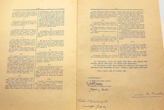 70th anniversary of Italian Constitution: exhibit starts in Milan