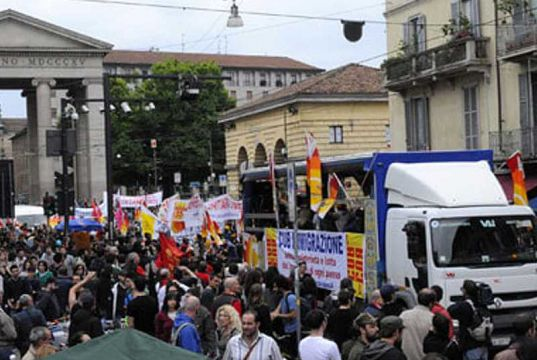 Milan celebrates Labour Day with parade