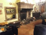 800 year old peperino stone fireplace for sale
