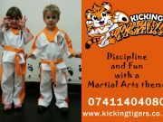 Kicking Tigers Martial Arts (3 to 6 year olds) + English