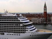 Venice protests as giant cruise ships return to canal city