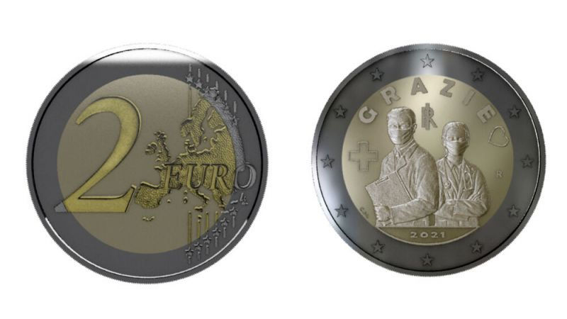 Coin Show Calendar 2022.Covid 19 Italy Dedicates Special 2 Coin To Frontline Health Workers